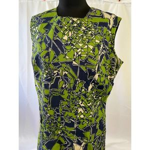 Vintage crazy print 1960s dress - plus size